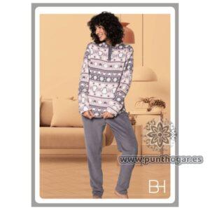Pijama coralina mujer AMERICA Ref. 41778 BH Textil