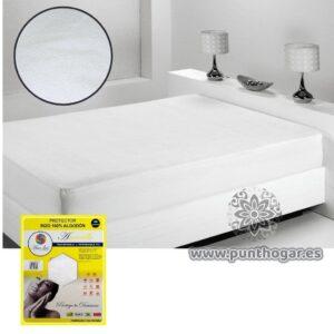 Protector de colchón AMARILLO rizo 100% algodón
